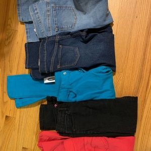Jeans sizes 7 and 8 old navy